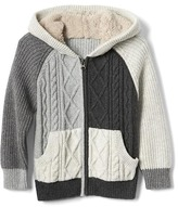 Gap Cozy cable knit zip sweater