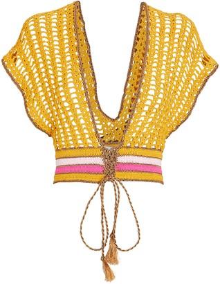 Crocheted V-Neck Top