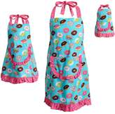 Dollie & Me Girls 4-16 & Women's Ruffled Donut Apron Set