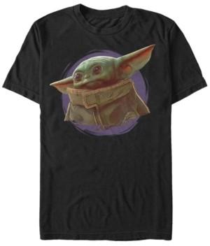 Star Wars Fifth Sun The Mandalorian The Child Purple Smoke Short Sleeve Men's T-shirt