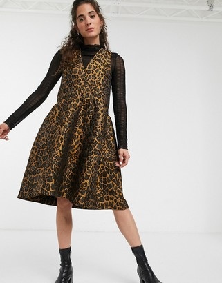 InWear Mounal leopard print sleeveless skater dress