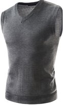 Cityelf Men's Vest Cashmere Sweater Sleeveless Pullover V-neck Collar MYM0003 (L, )