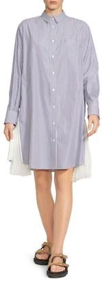 Sacai Poplin Pleated Shirtdress