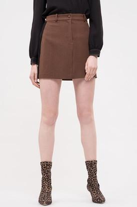 J.o.a. Houndstooth Mini Skirt