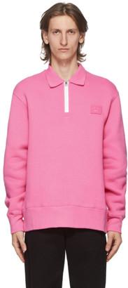Acne Studios Pink Point Collar Oversized Sweatshirt
