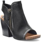 Isola Iliana City Perforated Leather Block Heel Dress Sandals