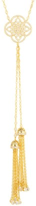 Latelita Celtic Knot Tassel Statement Necklace Gold