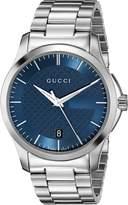Gucci YA126440 Women's Timeless Wrist Watches, Blue Dial, Band