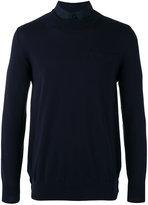 Sacai contrast back jumper - men - Cotton/Cupro - 2