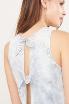 Dynamite Sleeveless Striped Top with Back Ties