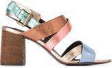 See by Chloe metallic sandals