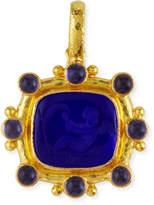 Elizabeth Locke Cherub with Sail Intaglio 19k Gold Pendant