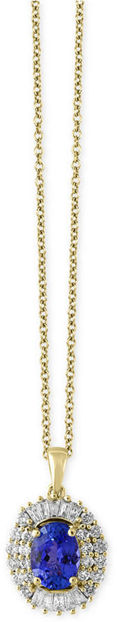 Effy Tanzantie Royale by Tanzanite (1-1/8 ct. t.w.) and Diamond (1/2 ct. t.w.) Pendant Necklace in 14k Gold