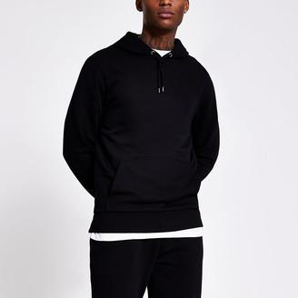 River Island Black long sleeve hoodie