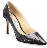 Jimmy Choo Romy Sequined Satin Pumps