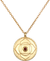 Satya Red Garnet & Gold Root Chakra Pendant Necklace