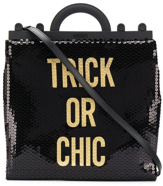 Moschino Trick Or Chic sequinned tote
