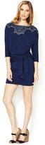 Plenty by Tracy Reese Jersey Embroidered Neckline Dolman Dress