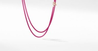 David Yurman Dy Bel Aire Chain Necklace In Hot Pink With 14K Rose