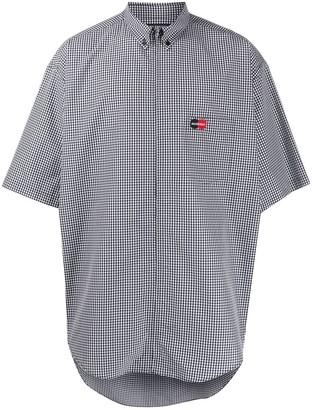 Balenciaga Zip Short Sleeve Oversized Shirt