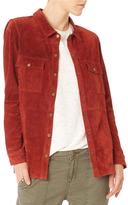 Sanctuary Suede Long Sleeve Shirt Jacket