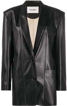 Nanushka Evan oversized faux leather blazer