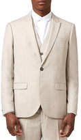 Topman Skinny Fit Crosshatch Suit Jacket