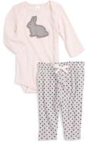 Nordstrom Infant Girl's Applique Bodysuit & Pants Set
