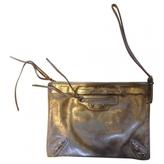 Balenciaga Silver Leather Clutch bag