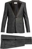 Saint Laurent Sparkle satin-lapel wool-blend tuxedo