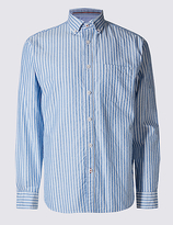 Blue Harbour Big & Tall Pure Cotton Striped Shirt