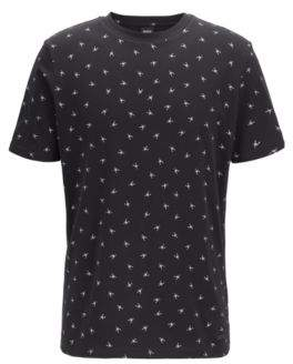 BOSS Regular-fit T-shirt with mini scorpion print