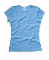 B.ella Ladies Baby Rib Short Sleeve Crew Neck T-shirt. 1001 - Medium