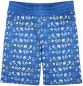 Andy & Evan Boys' Blue Emoji Mesh Short