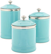 Southern Living Citrus Statements Collection Ceramic Canister with Lid