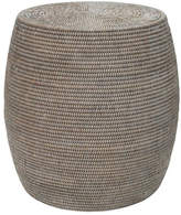 Rattan Drum Stool Color: White