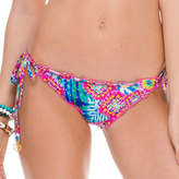 Luli Fama Crystalized Wavey Ruched Back Brazilian TieSide In Multicolor (L51302)