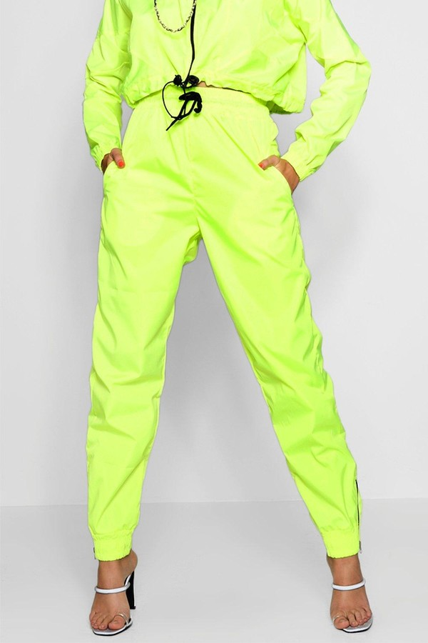 Thumbnail for your product : boohoo High Waist Shell Suit Track Pant