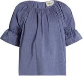 Rachel Comey Vidal short blouson-sleeved cotton top