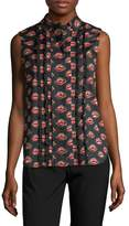 Prada Women's Lip Print Blouse