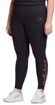 adidas Plus Size Essentials Logo High-Rise Leggings