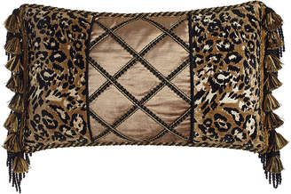 "Sweet Dreams Madagascar Pieced Pillow, 13"" x 23"""