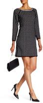 Max Studio Long Sleeve Jacquard Knit Dress