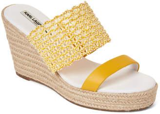 Karl Lagerfeld Paris Canary Celie Wedge Espadrille Slide Sandals