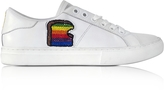 Marc Jacobs White Leather Empire Toast Low Top Sneaker