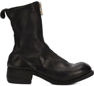 Guidi zipped front boots