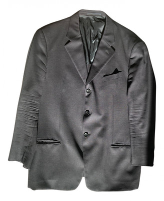 Armani Collezioni Black Wool Suits