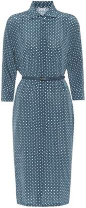 Max Mara Garibo polka-dot silk shirt dress