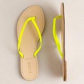 Neon patent capri sandals