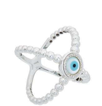 Diana M Fine Jewelry 14K 0.10 Ct. Tw. Diamond Evil Eye Ring
